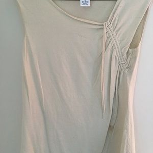 AnnTaylor Loft cream cinched blouse size small
